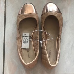 Express quilted beige flats 7